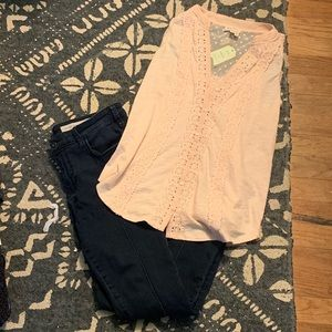 Anthropologie Bundle! Skinny Jeans & Tank!
